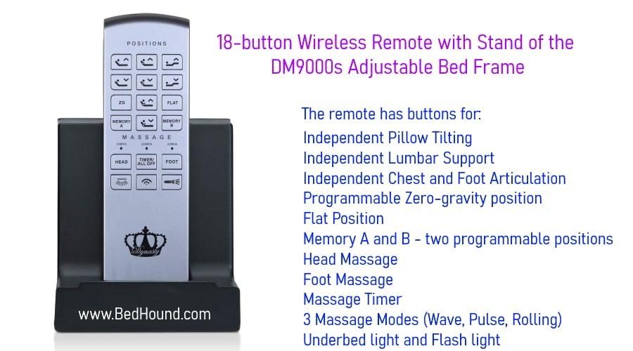 DynastyMattress-DM9000s-Remote